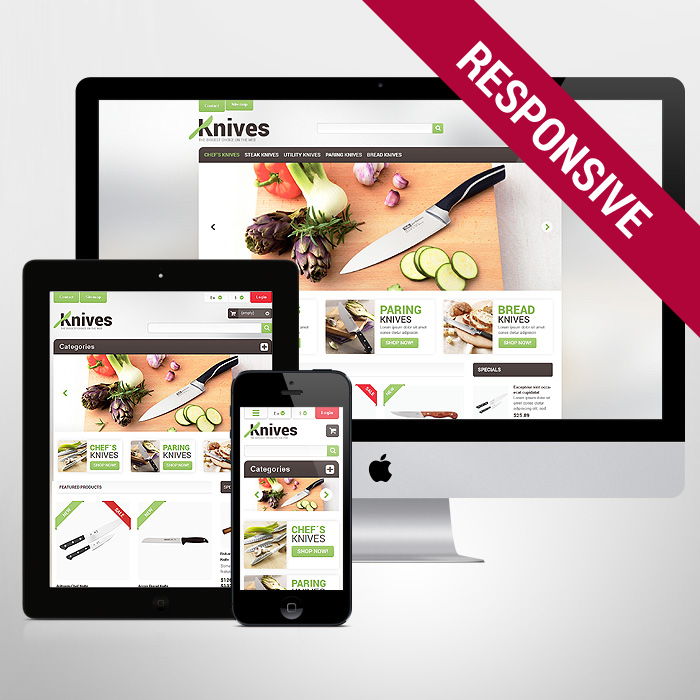 Template 47501 - Knives Shop Responsive PrestaShop Theme