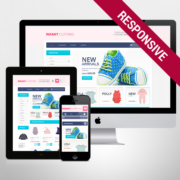 Template 47521 - Infant Baby Responsive PrestaShop Theme