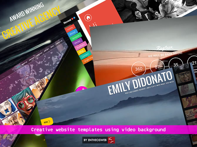 Creative Website Templates Using Video Backgrounds