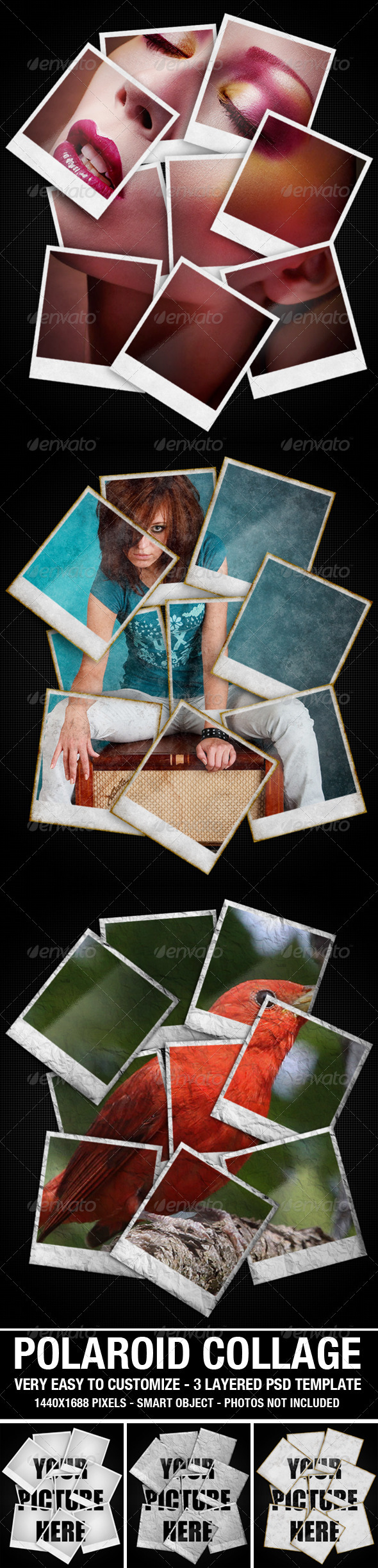 how to create a polaroid photo collage using photoshop cs6. Black Bedroom Furniture Sets. Home Design Ideas