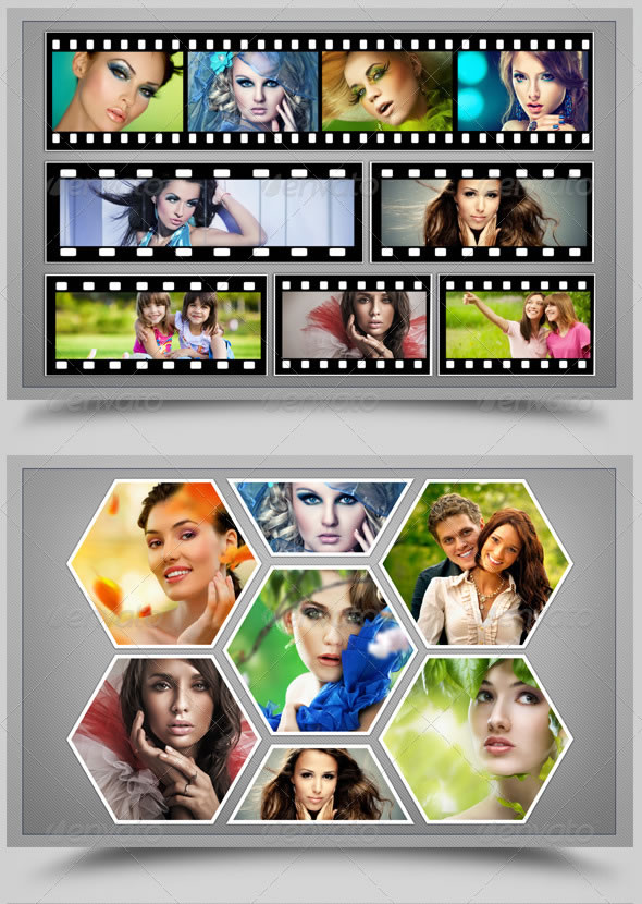 10 In 1 Photo Frame Template Package V2