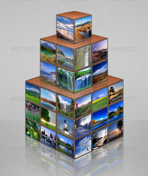 Photo Cube Tower