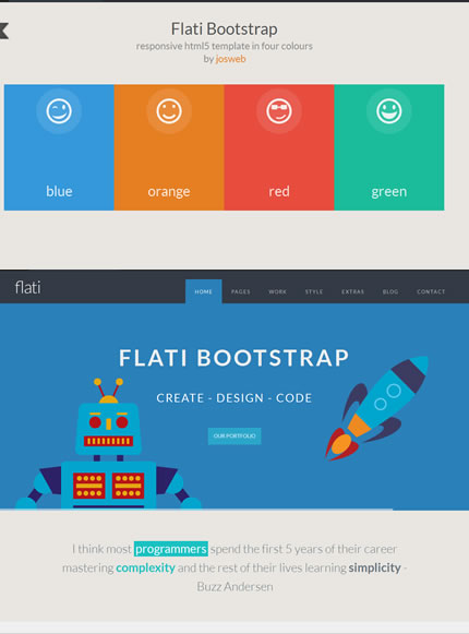 Flati - Responsive Flat Design Bootstrap Template