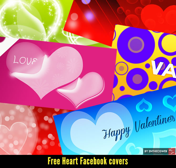 free heart facebook covers for valentines day