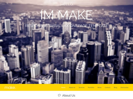 Make - Responsive Parallax Onepage WordPress Theme