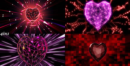 Heart Grid (4-Pack)