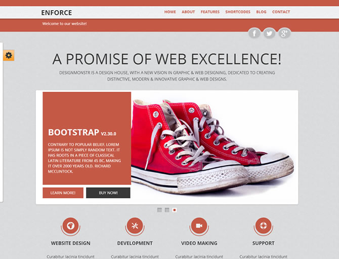 enFORCE - BootStrap Responsive HTML5 Template