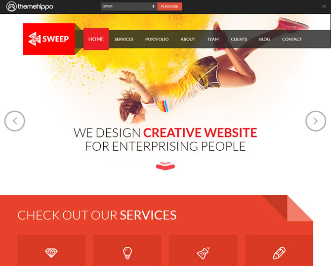 SWEEP - Creative One Page HTML5 Template
