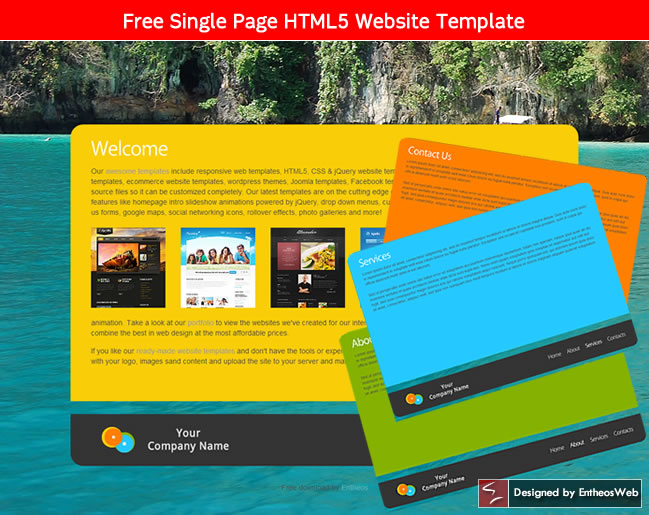 Free html5 and css3 website templates entheos for Free website templates html5