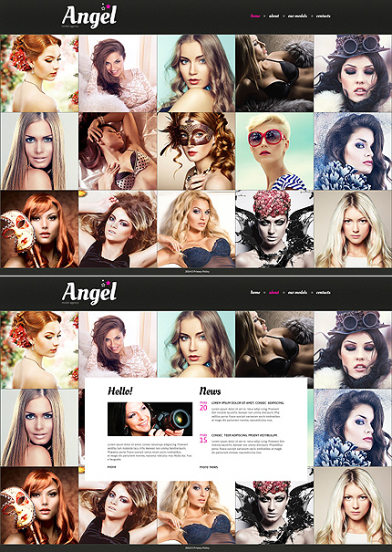 Template 48498 - Angel Models Website Template