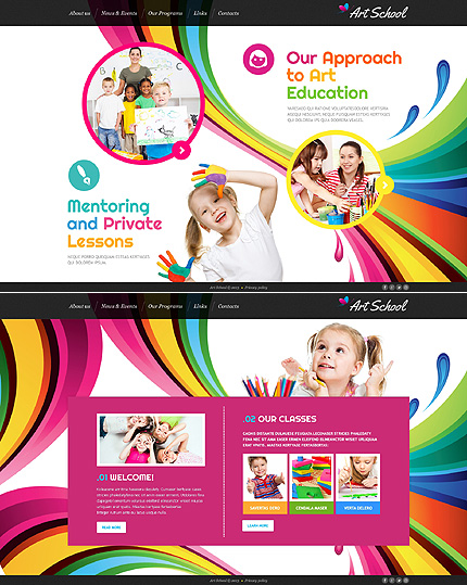 Template 46362 - Art School Website Template