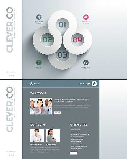Template 47267 - Clever Co Website Template