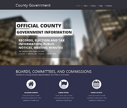 Template 48697 - County Government Responsive Website Template