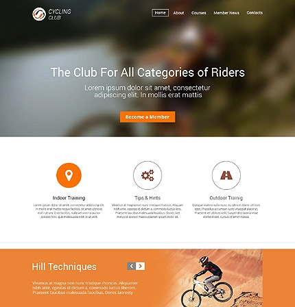 Template 48561 - Cycling Club Responsive Website Template