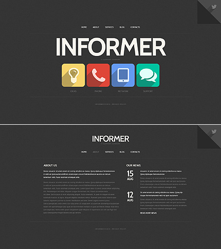 Template 46358 - Informer Internet Website Template