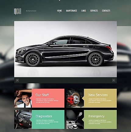 Template 47725 - Iqcar Car Moto CMS HTML Template