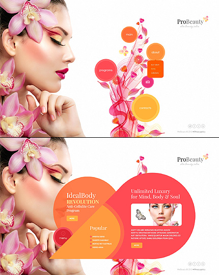 Template 45344 - Pro Beauty Website Template