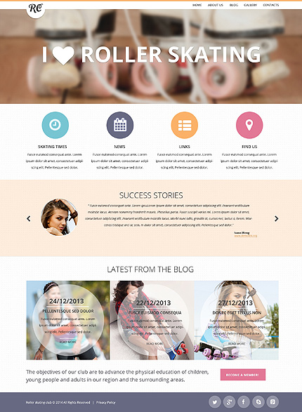 Roller Skating Responsive Website Template
