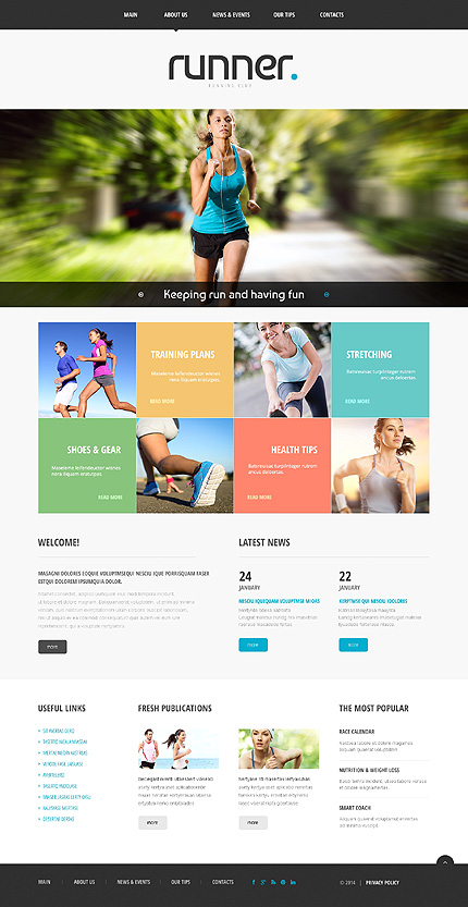 Template 48625 - Running Club Responsive Website Template