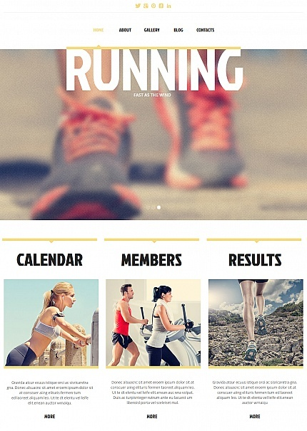 Template 48061 - Running Club Moto CMS HTML Template