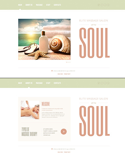 Template 47078 - Soul Spa Website Template