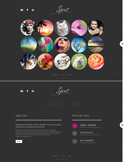 Template 48560 - Spirit Portfolio Website Template