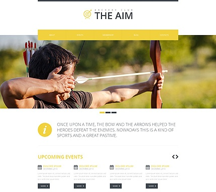 Template 48741 - The Aim Responsive Website Template