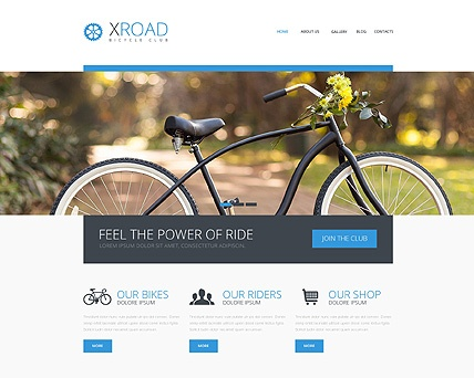 Template 48700 - Xroad Cycling Responsive Website Template