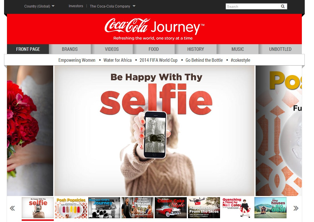 Coca Cola Journey Homepage The Coca Cola Company