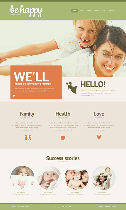 family-guide wordpress template