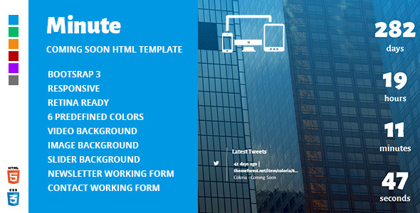 minute-responsive-coming-soon-theme