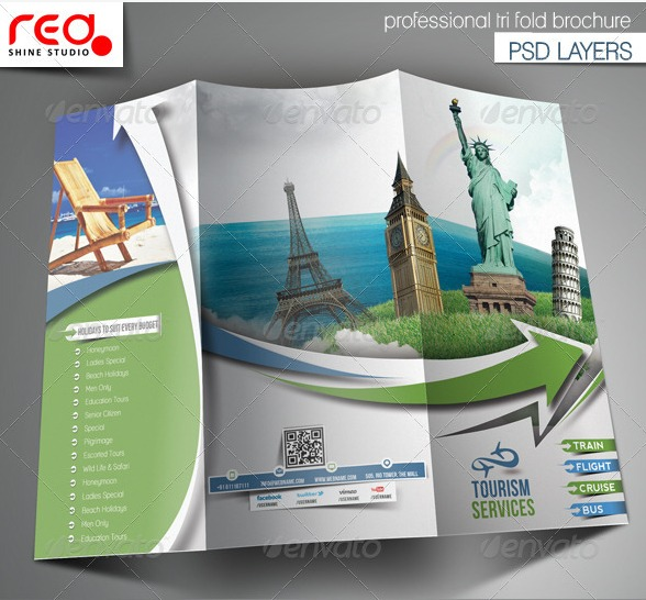 Printable Travel Brochure Template For Kids: Outstanding Corporate Identity Print And Web Templates