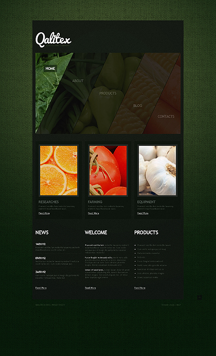Template 41846 - Agriculture Website Template