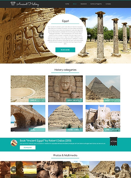 Template 48992 - Ancient History Responsive Website Template