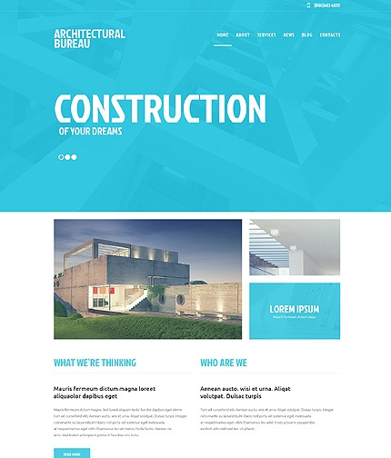 49251- Architecture Responsive WordPress Website Template