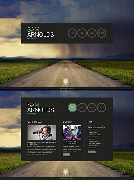Template 49346 - Photography Website Template with Portfolio