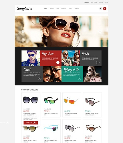 Template 49378- Sunglasses Store Responsive WooCommerce Theme