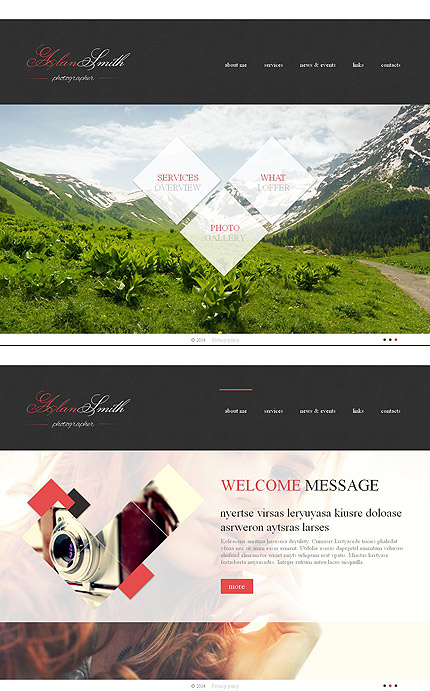 Template 49475 - Photo Gallery Template with Integrated Moto CMS HTML