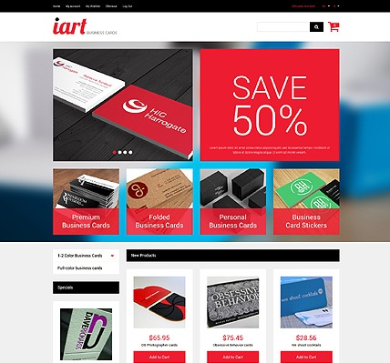 Template 49520 - Business Card Responsive Magento Theme