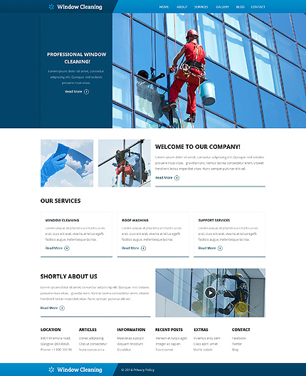 Template 49561 - Window Cleaning Responsive Website