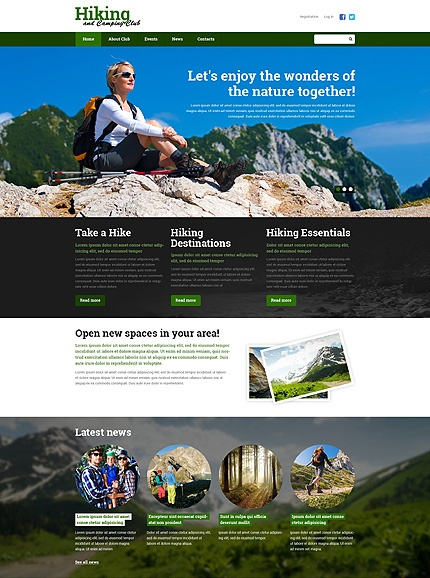 Template 49596 - Hiking Camping Responsive Website Template