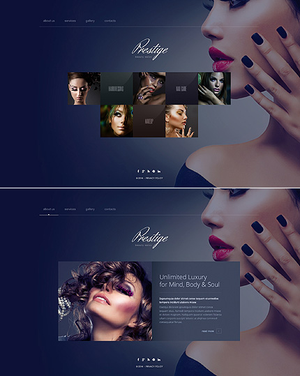 Best website templates 2014 entheos for Abc beauty salon