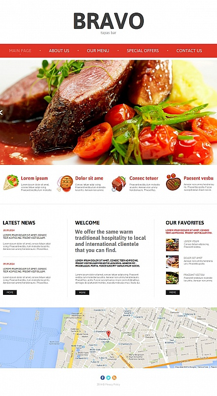 tapas menu template - awesome moto cms html templates entheos