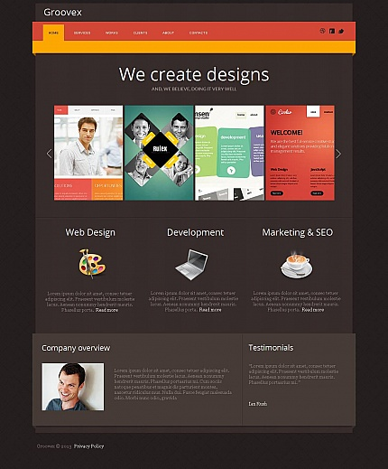 Template 47028 - Design Studio Moto CMS HTML Template