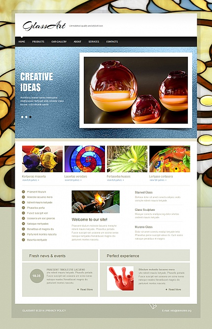Template 47575 - Stained Glass Moto CMS HTML Template