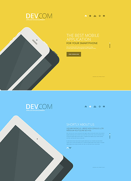 Template 48152 - Software Apps Responsive Website Template