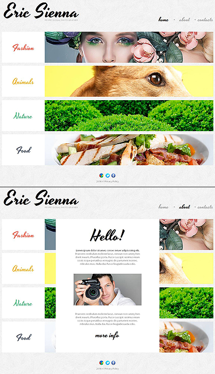 Template 48366 - Professional Photographer Responsive Moto CMS HTML Template