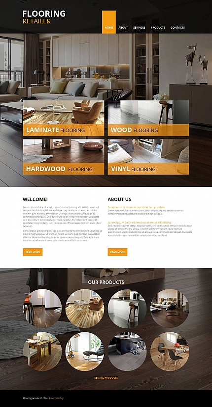 Template 48379 - Flooring Company Moto CMS HTML Template