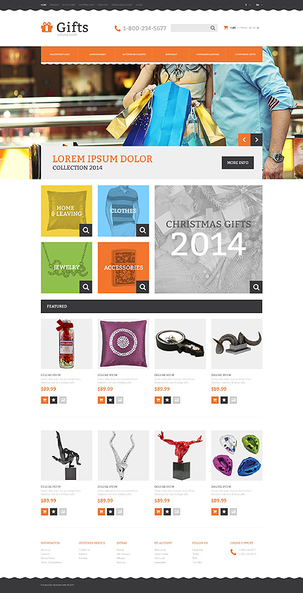 Template 48576 - Gift Store Responsive OpenCart Template