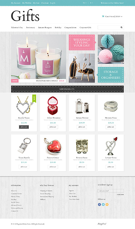 Template 49061 - Gift Store Responsive Magento Theme